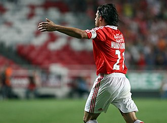 Nuno Gomes - Gomes celebrating a goal for Benfica in 2007
