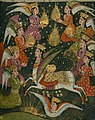 Nur al-Din `Abd al-Rahman ibn Ahmad Jami - Ascension of the Prophet Muhammad into Heaven - Walters W6467B - crop.jpg