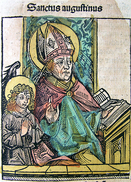 Saint Augustine in the Nuremberg Chronicle Nuremberg chronicles - Augustine (CXXXVIr).jpg