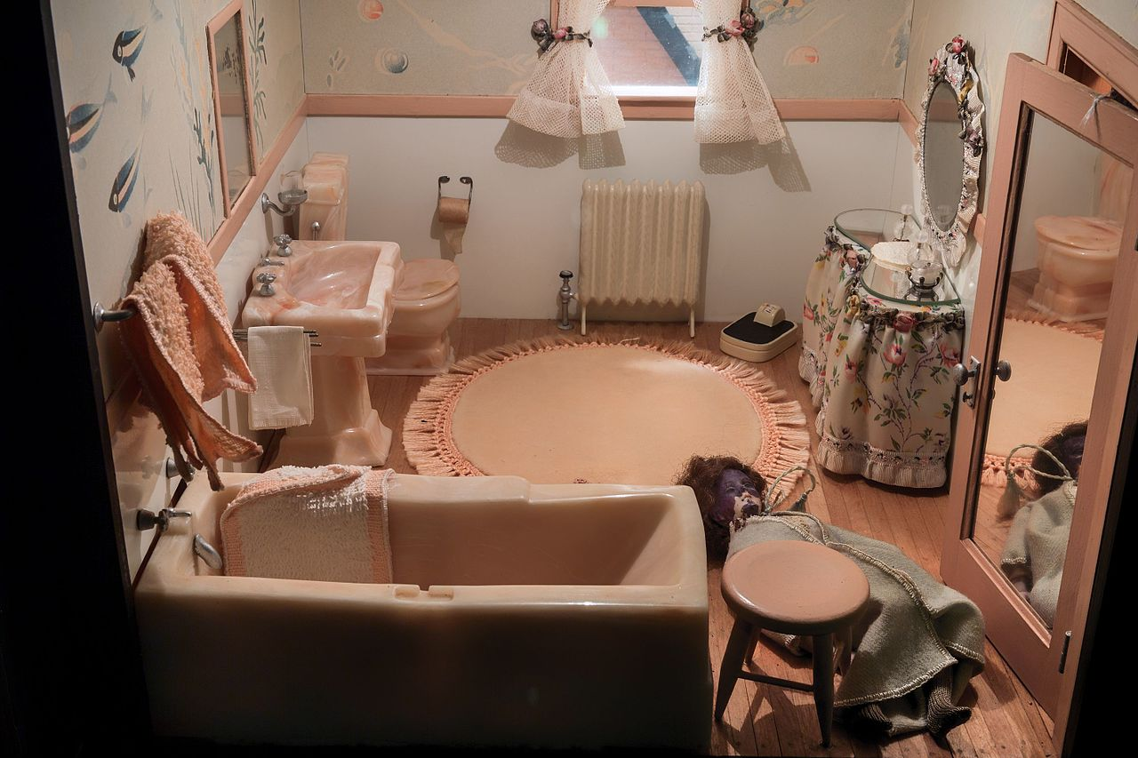 File Nutshell Studies Of Unexplained Death Pink Bathroom