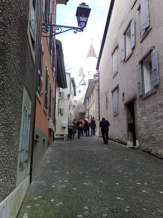 Nyon - Narrow streets in Nyon