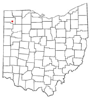 Defiance, Ohio - Image: OH Map doton Defiance