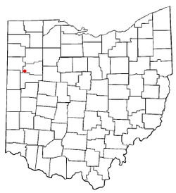 Location of Spencerville, Ohio