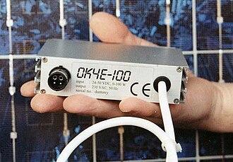 Solar micro-inverter - Another early microinverter, 1995's OK4E-100 – E for European, 100 for 100 watts.
