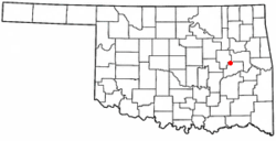 Location of Hitchita, Oklahoma