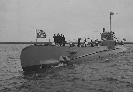 ORP Orzel was the lead ship of her class of submarines serving in the Polish Navy during World War II. ORP Orzel w Gdyni.jpg