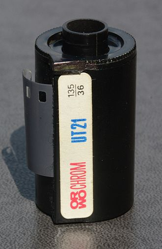 ORWO - Image: ORWO Orwochrom UT21 135 film for colour slides