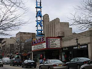 Oak Park, Illinois - Lake Theater and shops along Lake Street
