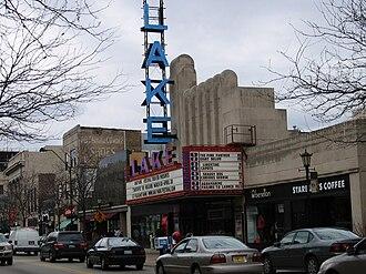 Oak Park, Illinois - Lake Theater and shops along Lake Street