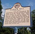 Oakton VA Waple's Mill Historical Marker.jpg