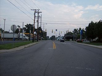 Ohio State Route 708 - SR 708 in downtown Russells Point