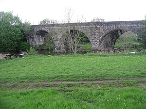 Bury–Holcombe Brook line - This viaduct, which spans the river Irwell, was part of the Bury–Holcombe Brook branch line built in 1882. The railway line closed in 1963 but the old track bed is still in use today as a cycle way and footpath.