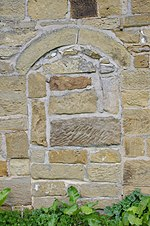File:Old Church of St Andrew bricked up door.jpg