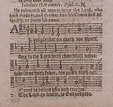 page from a 1628 music print