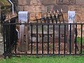 Old stocks at St Mary's Priory Church, Tutbury - geograph.org.uk - 632659.jpg