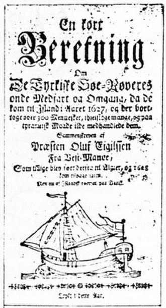 Jan Janszoon - Ólafur Egilsson was captured by Murat Reis the Younger