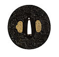 Omori Teruhide - Tsuba with a Dragon Emerging from Waves - Walters 51331.jpg
