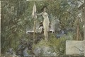 Open-Air Studio. From A Home (26 watercolours) (Carl Larsson) - Nationalmuseum - 24224.tif
