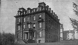 Orange Judd - Wesleyan's Orange Judd Hall of Natural Science at around 1890, where the country's first agricultural experiment station was organised.