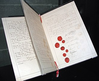 International Committee of the Red Cross - Original document of the first Geneva Convention, 1864