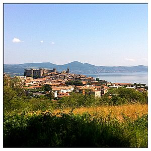 Bracciano - The castle seen from the hospital parking lot.
