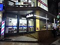 Osaka Metro Nanba Station Entrance 18 at night on 9th April 2018.jpg