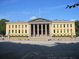 Peder Ås - The main building of the University of Oslo Faculty of Law