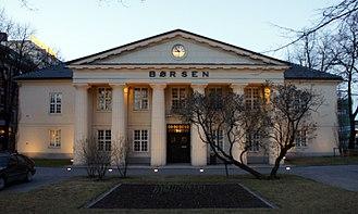 Oslo Stock Exchange - Oslo Børs Building 2014