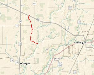 Morrow County, Ohio - Ossing Run is located in Cardington, Ohio