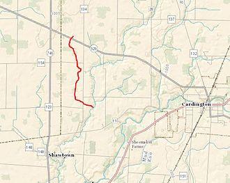 Morrow County, Ohio - Ossing Run is located in Cardington, Ohio