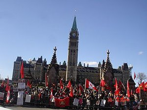 Protests against the Sri Lankan Civil War in Canada - Image: Ottawa Tamil Protest 1
