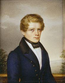 Als 18-jähriger Student in Göttingen (Miniatur von Philipp Petri, 1833) (Quelle: Wikimedia)