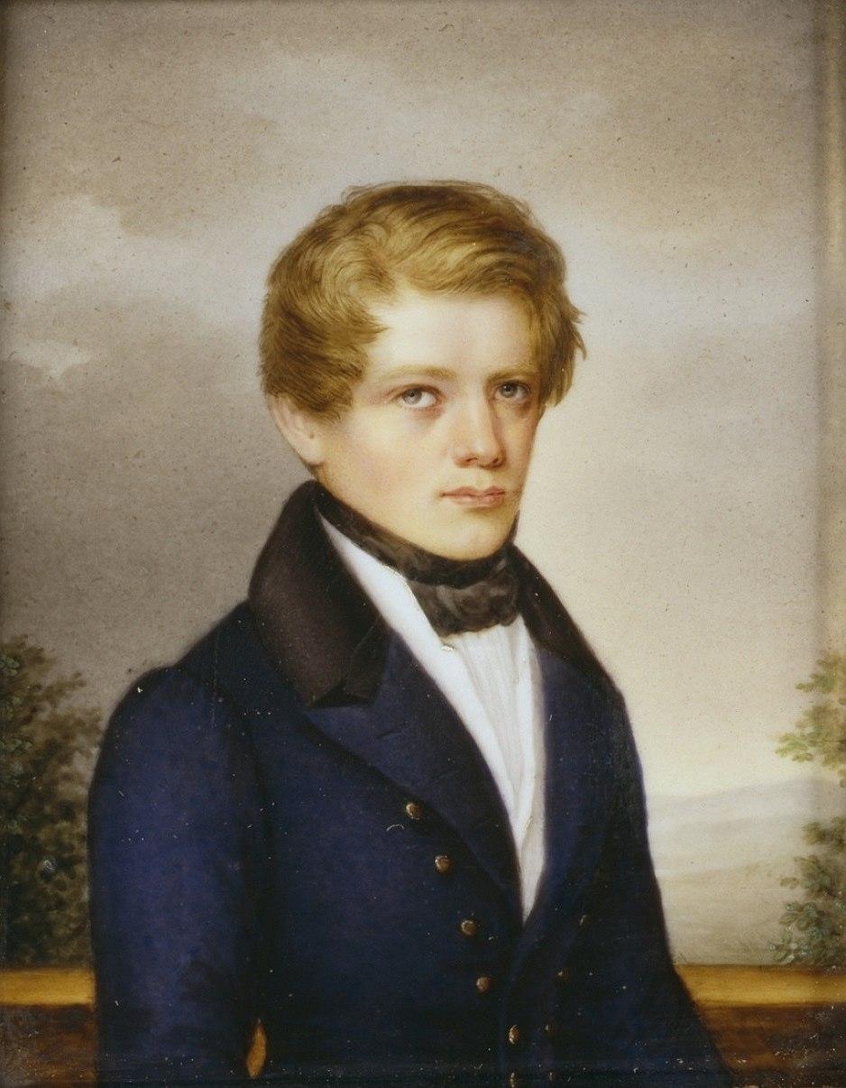 Otto von Bismarck, Jugendbildnis im Alter von 22 Jahren