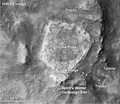 """Home Plate"" rock outcrop on Mars – studied by the Spirit Rover."
