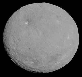 Dwarf planet - The dwarf planet Ceres, as imaged by NASA's Dawn spacecraft.