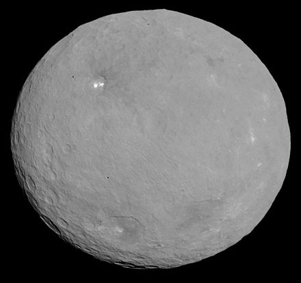 The dwarf planet Ceres, as imaged by NASA's Dawn spacecraft. PIA19562-Ceres-DwarfPlanet-Dawn-RC3-image19-20150506.jpg