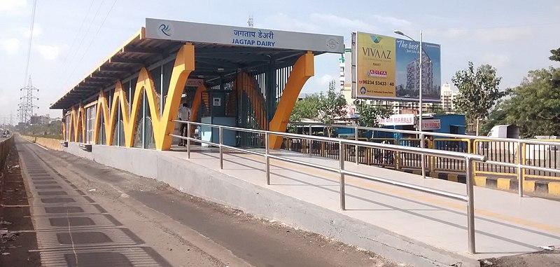 Jagtap Dairy Rainbow BRTS Station.