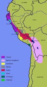 Territorios conquistados por Pachacútec