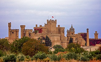 Spanish conquest of Iberian Navarre - Castle of Olite, a major fortification and royal site (central Navarre)