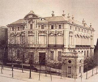 Palacio del Marqués de Portugalete - Palacio del Marqués de Portugalete in the late - 19th century.
