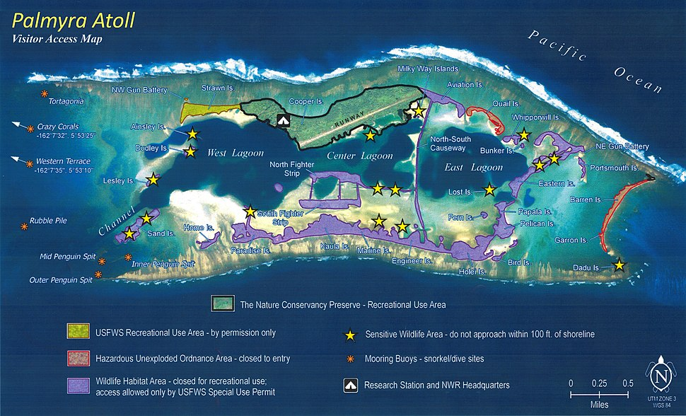 Map of Palmyra Atoll