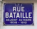 Panneau de la rue Bataille à Lyon, au niveau de l'école Édouard Herriot.jpg