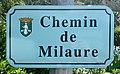 Panneau du chemin de Milaure (Eygliers).jpg