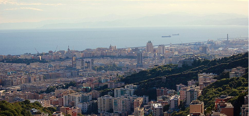 A panoramic view of Genoa