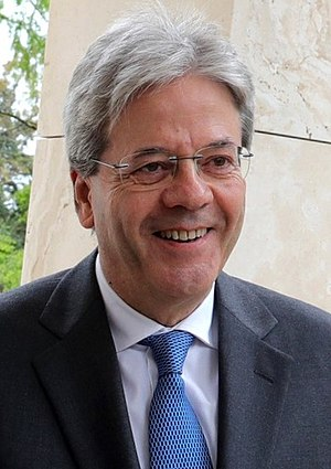 Politics of Italy - Paolo Gentiloni, Prime Minister since 12 December 2016.
