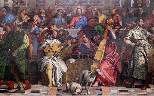 Paolo veronese, le nozze di cana, 1563-62, da s. giorgio maggiore a venezia, 02 musici
