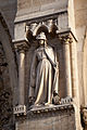 Paris Notre-Dame cathedral west facade scuptures - Synagoga 01.jpg