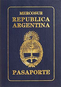 Cover of an Argentinian passport