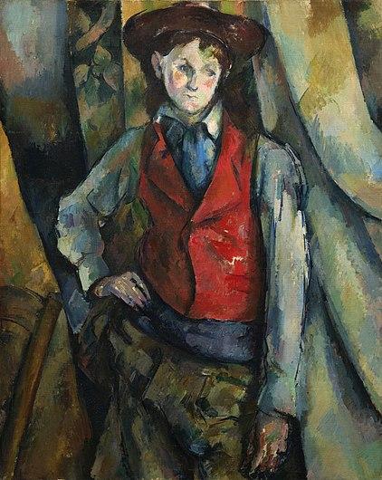 Paul Cézanne - Garçon au gilet rouge.jpg