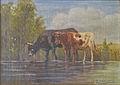 Paul Schouten - Koeien bij de drinkplaats.JPG